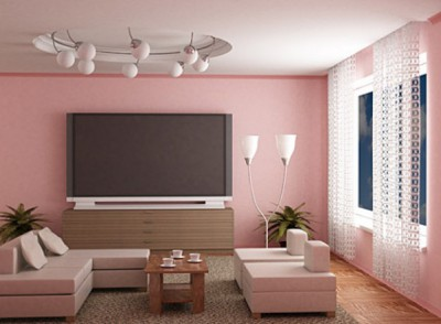 Fashion pink living room picture material 38 4262 400x294